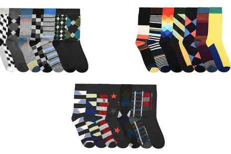 Groupon Goods Global GmbH - Mens Multicolour Socks Seven Pack, 14 Pack or 21 Pack - Save 0%