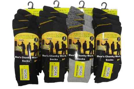Groupon Goods Global GmbH - Mens Work Socks 12 Pack - Save 0%