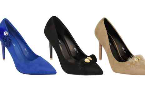 Groupon Goods Global GmbH - Bello Clock Womens Stiletto Heels with Suede Look - Save 0%