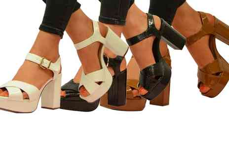 Groupon Goods Global GmbH - Womens Block Heel Sandals - Save 0%
