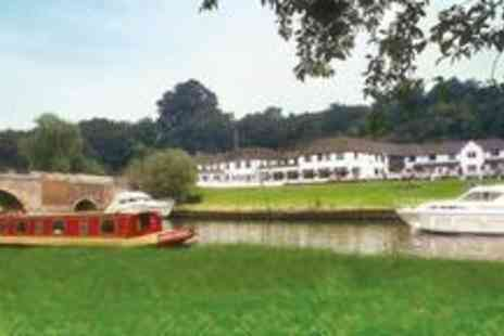 Shillingford Bridge Hotel - One night break including a two-course meal, a bottle of wine and breakfast - Save 64%