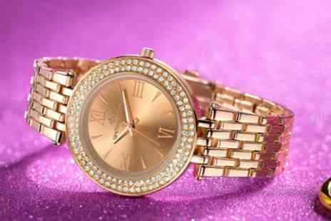 Groupon Goods Global GmbH - Timothy Stone Burst Watches with Crystals from Swarovski With Free Delivery - Save 83%