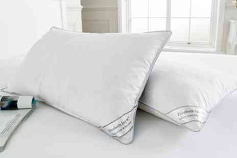 Groupon Goods Global GmbH - Two, Four or Eight Elizabeth Jane Goose Feather and Down Pillows - Save 76%