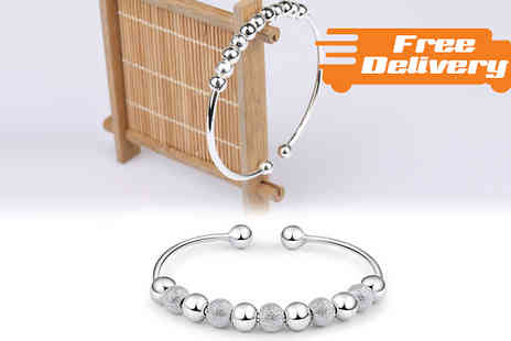 Comxuk - Silver Coloured or Beaded Bangle with Free Delivery - Save 0%