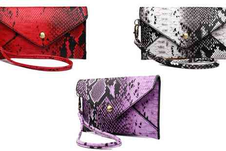 Groupon Goods Global GmbH - Snakeskin Printed Envelope Purse - Save 69%