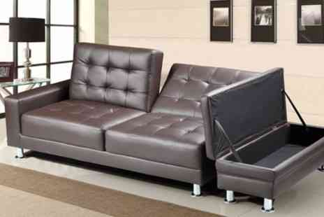Groupon Goods Global GmbH - Knightsbridge Sofa Bed with Ottoman Storage With Free Delivery - Save 26%