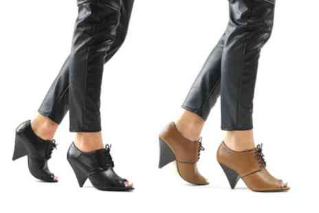 Groupon Goods Global GmbH - Womens Lace Up Ankle Boots with Tapered Heel - Save 0%