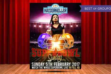 Kaiserkeller - Entry for One or Two to American Football Pub Night on Sunday 5 February - Save 0%