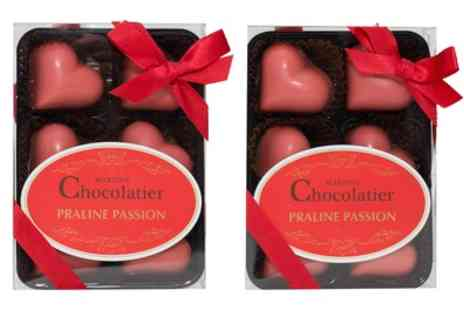 Groupon Goods Global GmbH - One or Two Boxes of Chocolate Praline Hearts - Save 5%