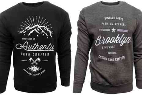 Groupon Goods Global GmbH - Mens Two Pack Print Sweatshirt With Free Delivery - Save 0%