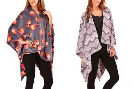 Groupon Goods Global GmbH - Soft Printed Fleece Lounge Wear Wrap - Save 0%