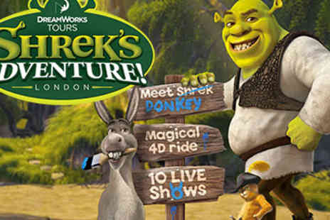 DreamWorks Tours - Shrek's Adventure Family Ticket, London and Two-Course Meal - Save 15%