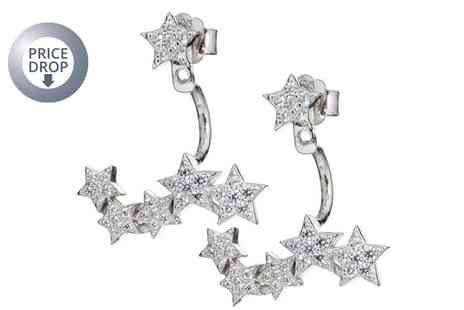 Groupon Goods Global GmbH - Starry Eyed Earrings Made with Crystals - Save 69%