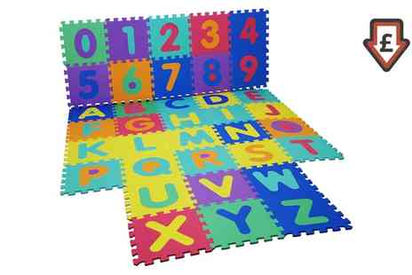 Groupon Goods Global GmbH - Nine Piece or Alphabet and Numbers Puzzle Play Mat - Save 69%