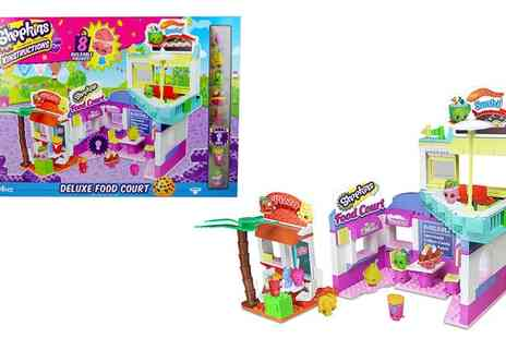 Groupon Goods Global GmbH - Shopkins Kinstructions Deluxe Food Court With Free Delivery - Save 10%