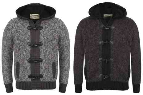 Groupon Goods Global GmbH - Mens Dissident Fleece Lined Hooded Cardigan - Save 0%