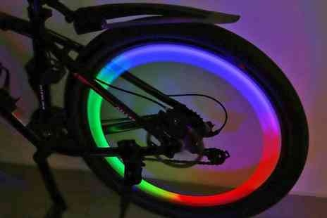 Groupon Goods Global GmbH - Two or Four Flashing Led Bicycle Wheel Lights - Save 43%