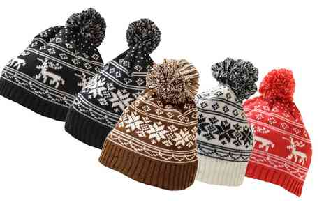 Groupon Goods Global GmbH - Fairisle Bobble Hat - Save 75%