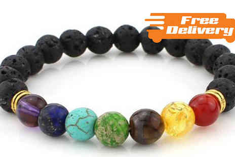 Comxuk - Faux Lava Stone Beaded Reiki Bracelet with Free Delivery - Save 61%