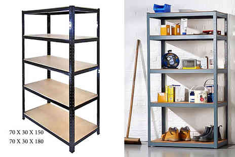 UK Home and Garden - Five tier shelving unit or large unit - Save 82%