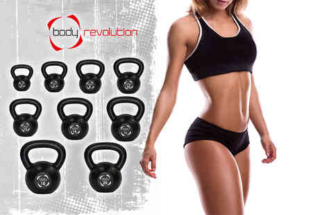 Pocket Media - Cast iron kettlebell choose your weight from 4kg to 28kg - Save 39%