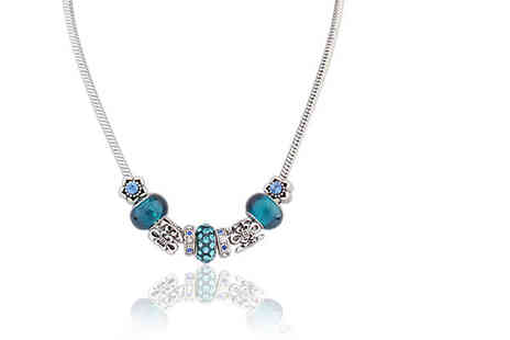 My Boutique Store - Blue crystal charm necklace - Save 91%