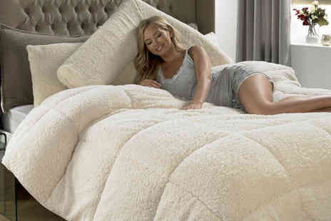 Groundlevel - Single super warm teddy fleece 13.5 tog duvet - Save 66%