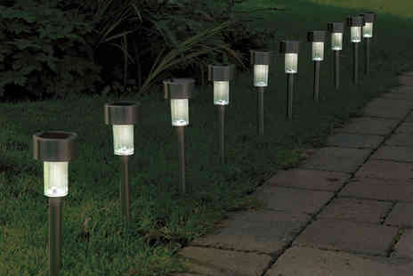 Vivo Technologies - 10 solar stainless steel post lights - Save 69%