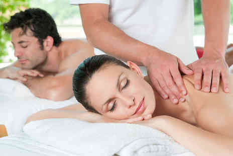 Head 2 Toe - 90 minute couples pamper package including a massage, facial and glass of Prosecco each - Save 76%