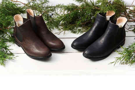 Evaniy Accessories - Mens wool lined Chelsea boots choose black or coffee - Save 71%