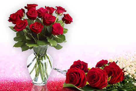 KNPH - Dozen red roses in gift wrap - Save 49%