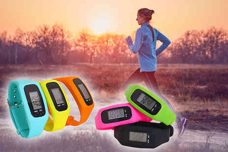 Toy Meets World - Four in One fitness tracker choose from blue, yellow, orange, pink, green or black - Save 77%