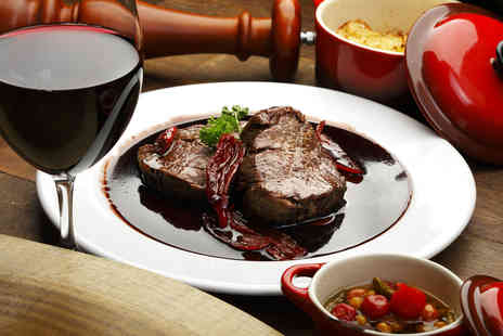 The Cheshire Line - Two course steak meal with a glass of wine for two people - Save 52%