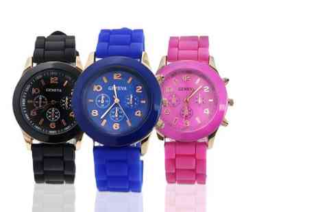 Fakurma - Geneva unisex silicone watch choose from nine colours - Save 74%