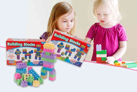 London Exchain Store - Set of 32 childrens multi coloured chunky building blocks - Save 80%
