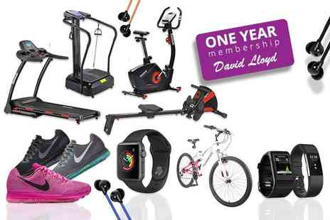 Wowcher Direct - Fitness Mystery Deal One Year David Lloyd Membership, Fit Bit, Apple Watch, Nike, Veho and more - Save 0%