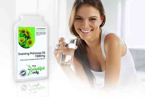 Real Protein - Three month supply of evening primrose oil capsules - Save 70%