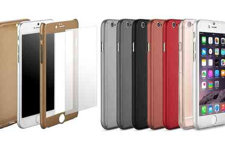 Groupon Goods Global GmbH - Full Body Ultra Thin Acrylic Case with Integrated Tempered Glass for iPhone 6, 6 Plus - Save 74%