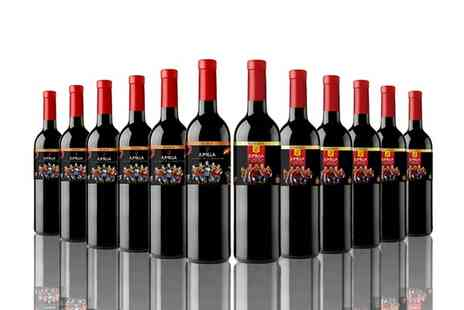 The Vineyard Club - 12 or 16 Bottles of Mixed Red Wine With Free Delivery - Save 64%
