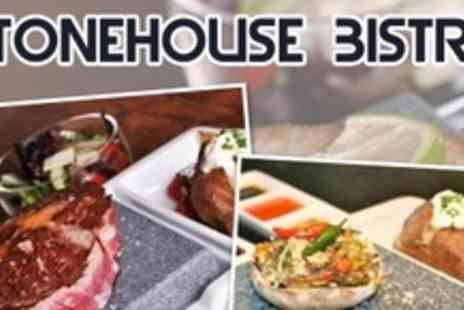 Stonehouse Bistro - Two Courses of Hot Rock Cuisine For Two Plus Appetisers - Save 61%