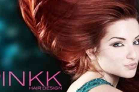 Pinkk Hair Design - Full Head of Colour and Choice of Cut - Save 65%