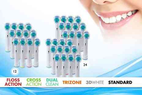 Shop Sharks - 12 Oral B compatible toothbrush heads - Save 0%