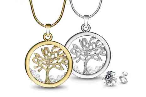 Neverland Sales - Tree of Life Necklace with Crystals from Swarovski With Free Delivery - Save 84%