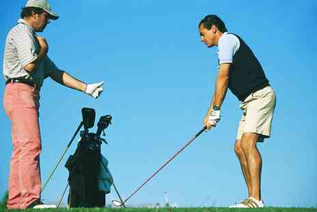 KJ Golf Academy - One or Three Outdoor Golf or Indoor Simulator Lessons - Save 40%