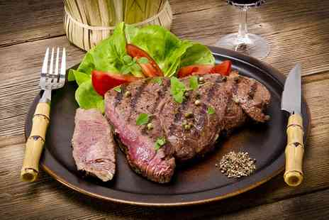 The Hayloft - Rump Steak Meal with a Glass of House Wine for Two - Save 49%