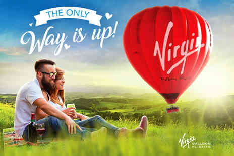 Virgin Balloon Flights - Anytime Plus hot air balloon experience with Champagne for one or two - Save 50%