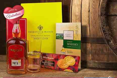 First4Hampers - Whiskey Valentines hamper for him including chocolates, shortbread and more - Save 42%
