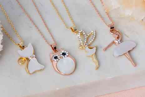 Neverland Sales - One or Two Character Necklaces with Crystals from Swarovski With Free Delivery - Save 59%