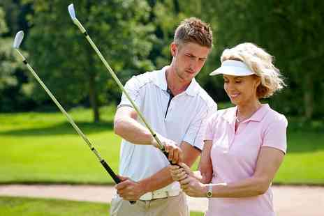 Cain Golf - One or Three 60 Minute Golf Lessons using V1 Video Analysis - Save 50%