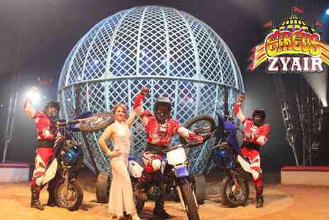 Circus Zyair - Two or four tickets to Circus Zyair with popcorn to share on 30 March To 4 April - Save 59%